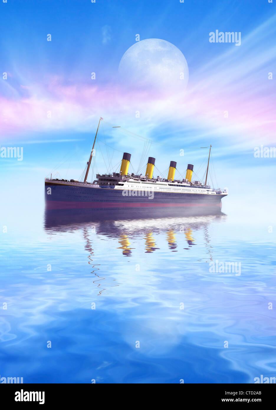 Titanic Kunstwerk Stockbild