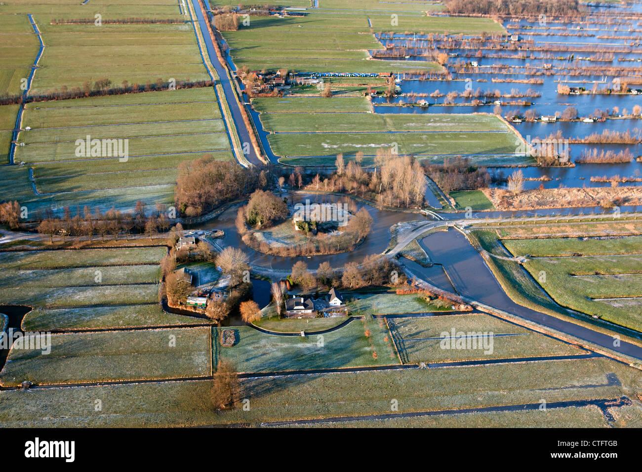 Die Niederlande, Loosdrecht, Fort Spion, Bestandteil der neue Holländische Wasserlinie, eine militärische Stockbild