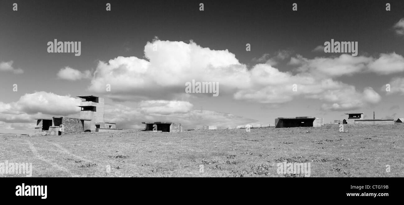 Orkney-Inseln, Graemeshall Gun Battery Stockbild