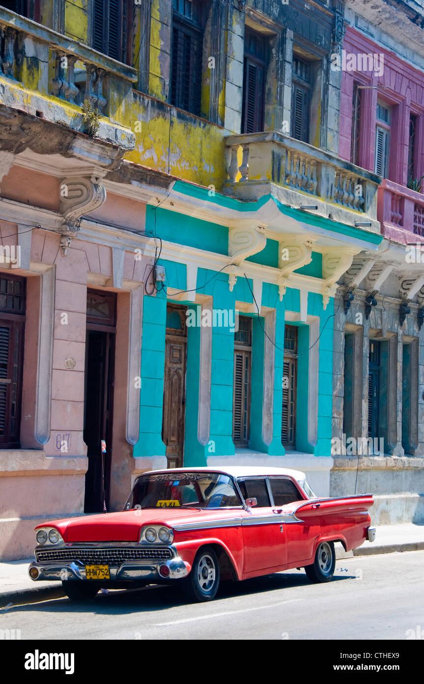Amerikanische Oldtimer, La Havanna, Kuba Stockbild