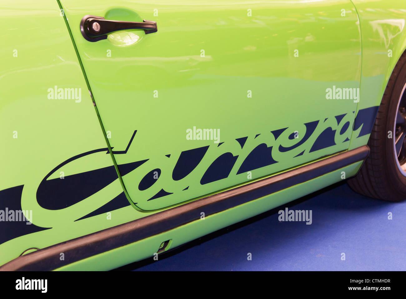 Detail des Porsche Carrera Sportwagen. Stockbild