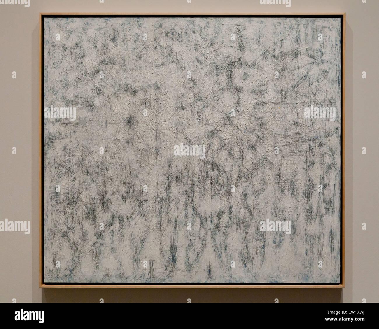 """Weiße Garten, Himmel"" von Richard Pousette-Dart, 1951 - Smithsonian National Gallery of Art, Washington, Stockbild"