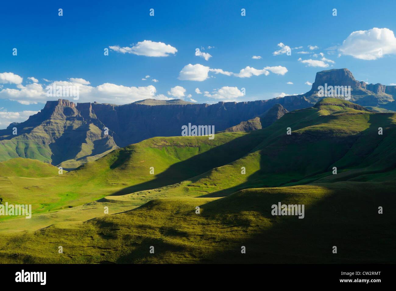 Drakensberg Amphitheater befindet sich in der Royal Natal National Park.South Africa Stockbild