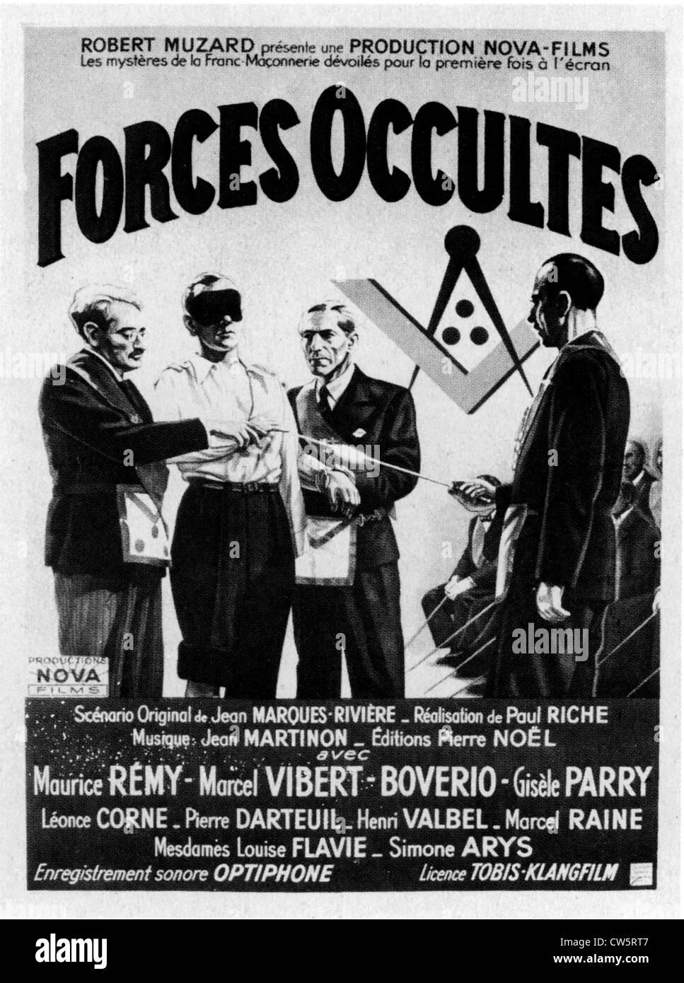 """Plakat des Films """"Forces Occultes"""" Stockbild"""