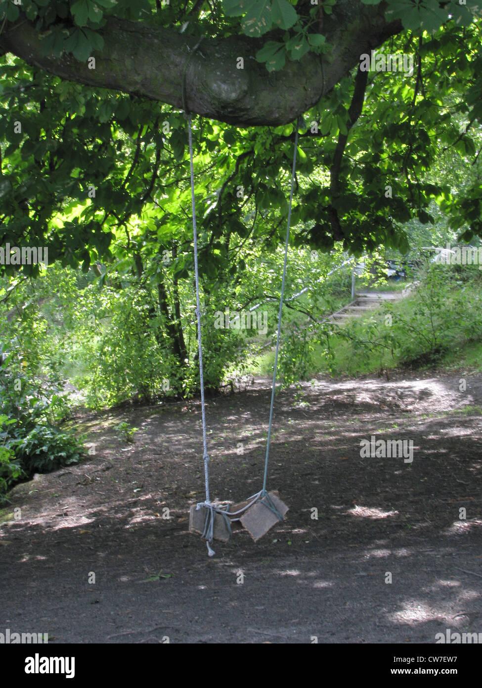 Wooden swing tree stockfotos wooden swing tree bilder for Der schaukelstuhl hamburg