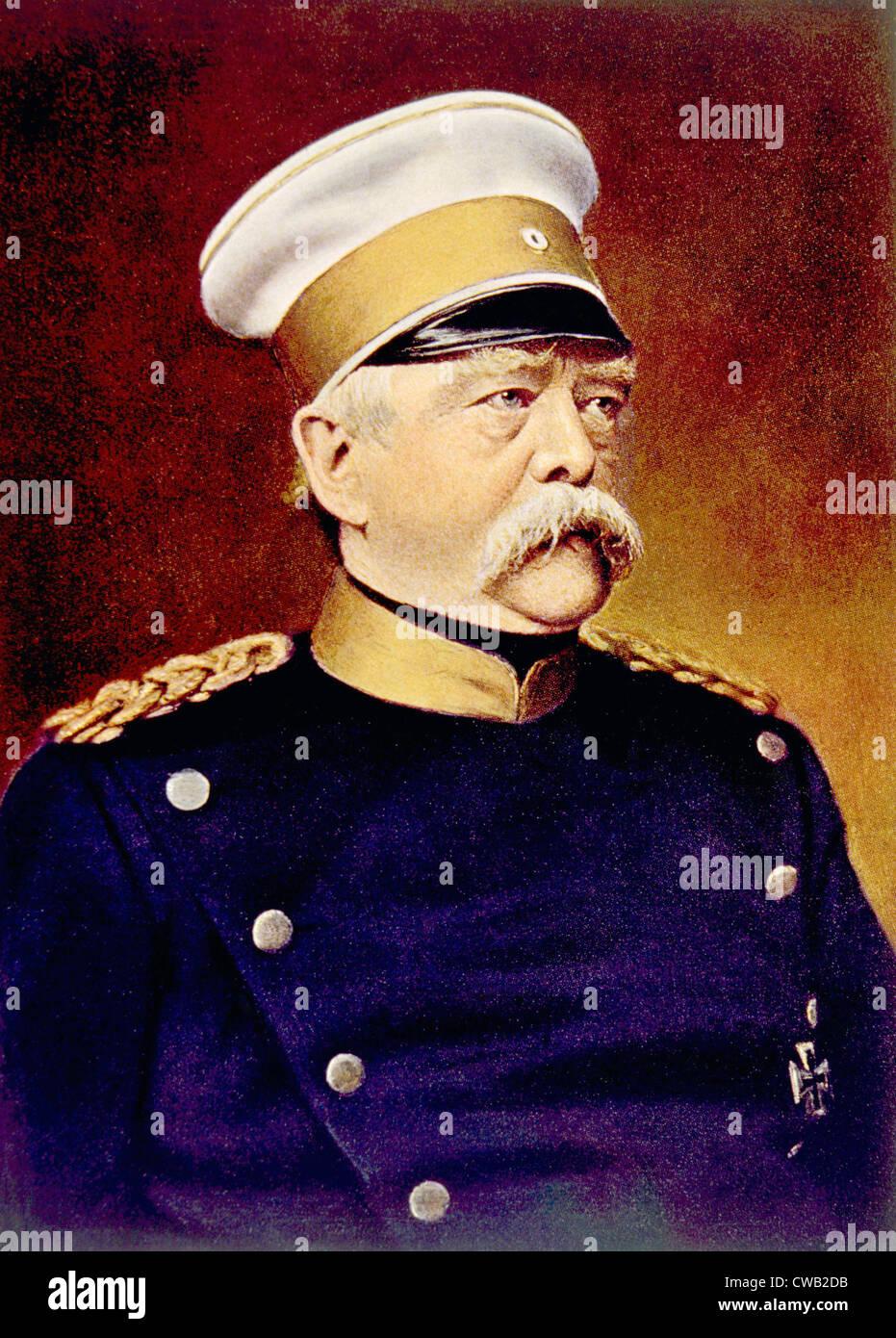 Otto von Bismarck (1815-1898), Bundeskanzler der Bundesrepublik Deutschland, bekannt als der Eiserne Kanzler Stockbild