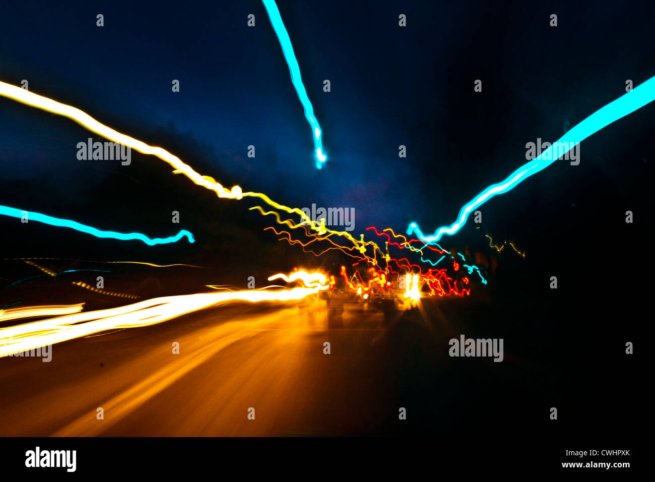 Lampen, Schienensysteme Stockbild