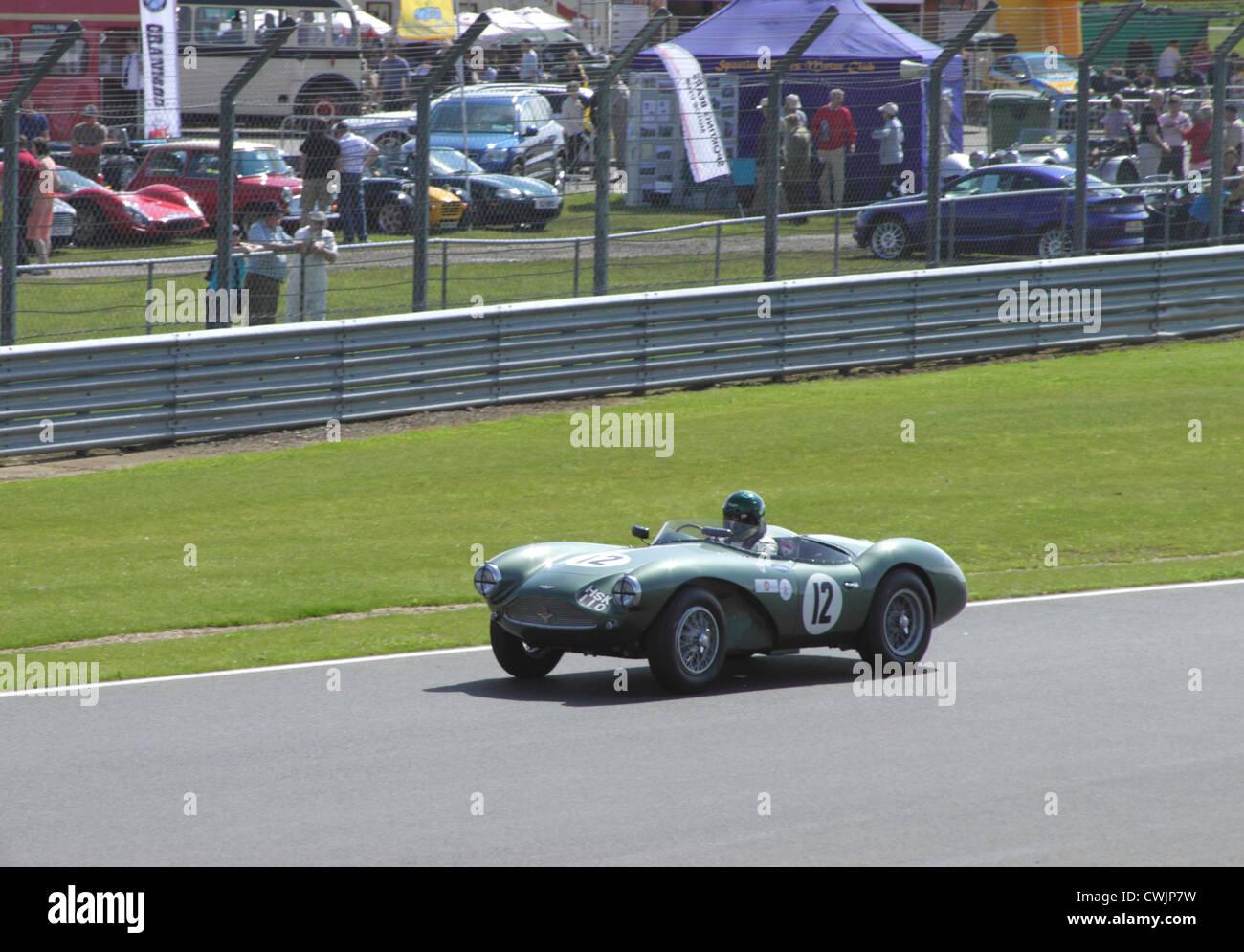 Aston Martin DB3S bei RAC Woodcote Trophy für Pre-56 Sportwagen Silverstone Classic 22. Juli 2012 Stockbild