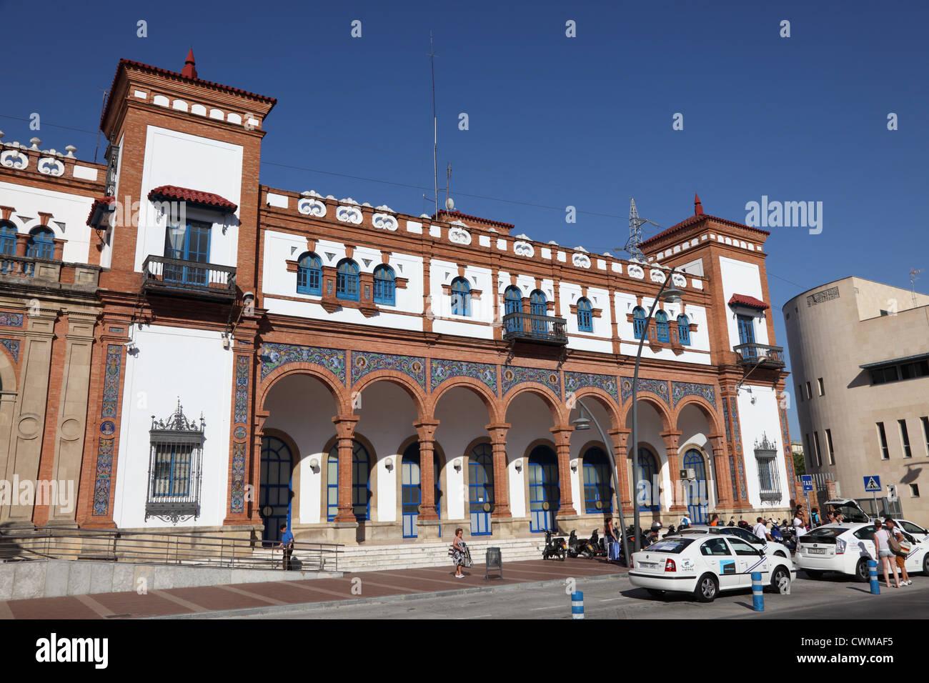 Hauptbahnhof in Jerez De La Frontera, Andalusien Spanien Stockbild