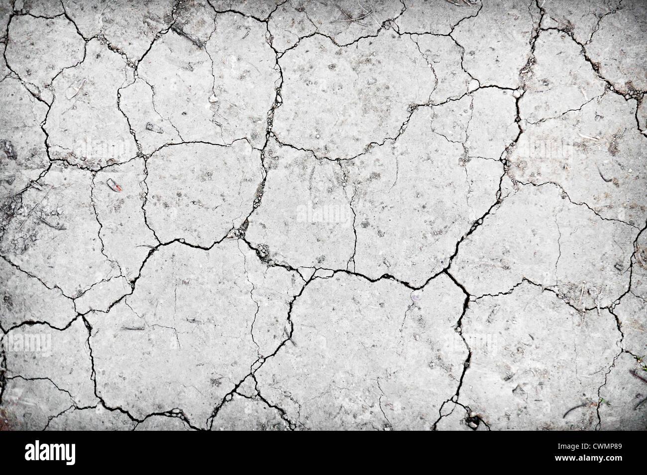 Hintergrund der trockenen rissigen Boden Schmutz oder Erde während Dürre Stockbild