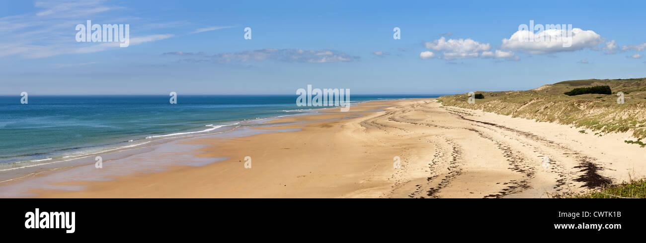 Der Strand von Carteret, Normandie, Frankreich Stockbild