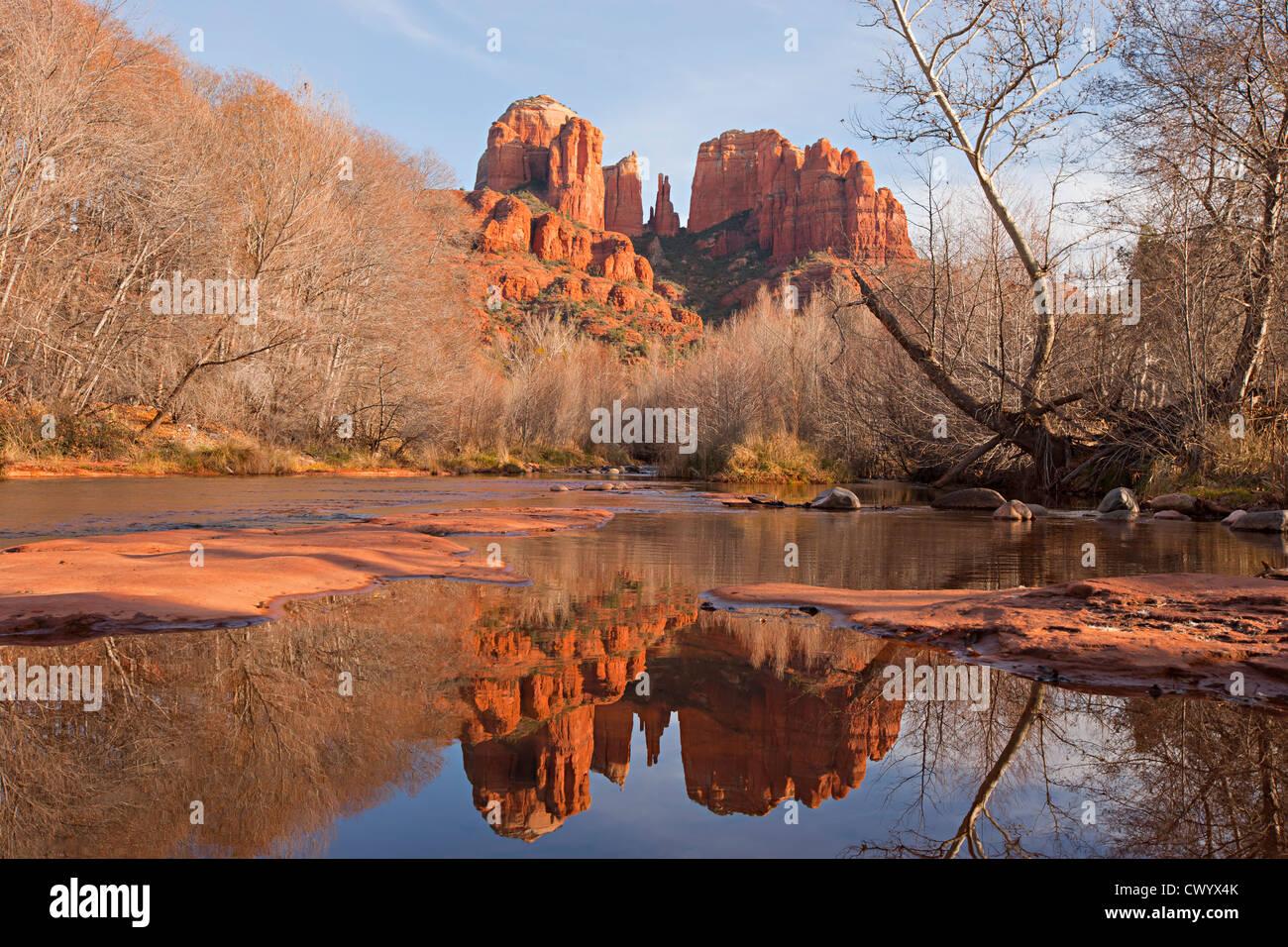 Cathedral Rock, Sedona, Arizona USA Stockbild