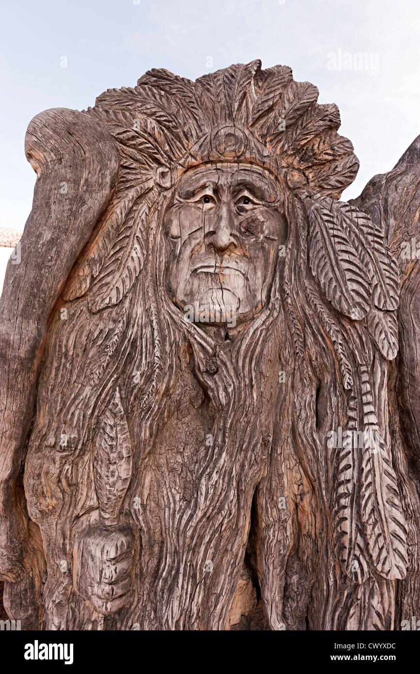 Holzschnitzerei Sedona Arizona USA Stockbild