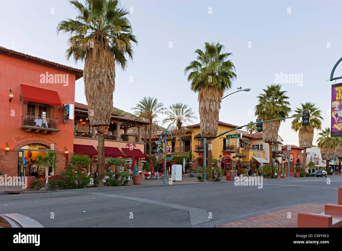 Straßenansicht-Palm Springs-USA Stockbild