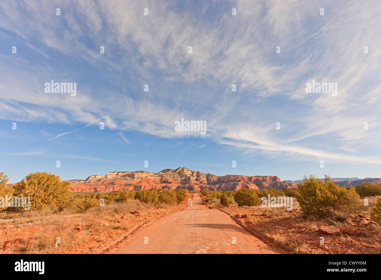 Feldweg in Sedona Arizona USA Stockbild