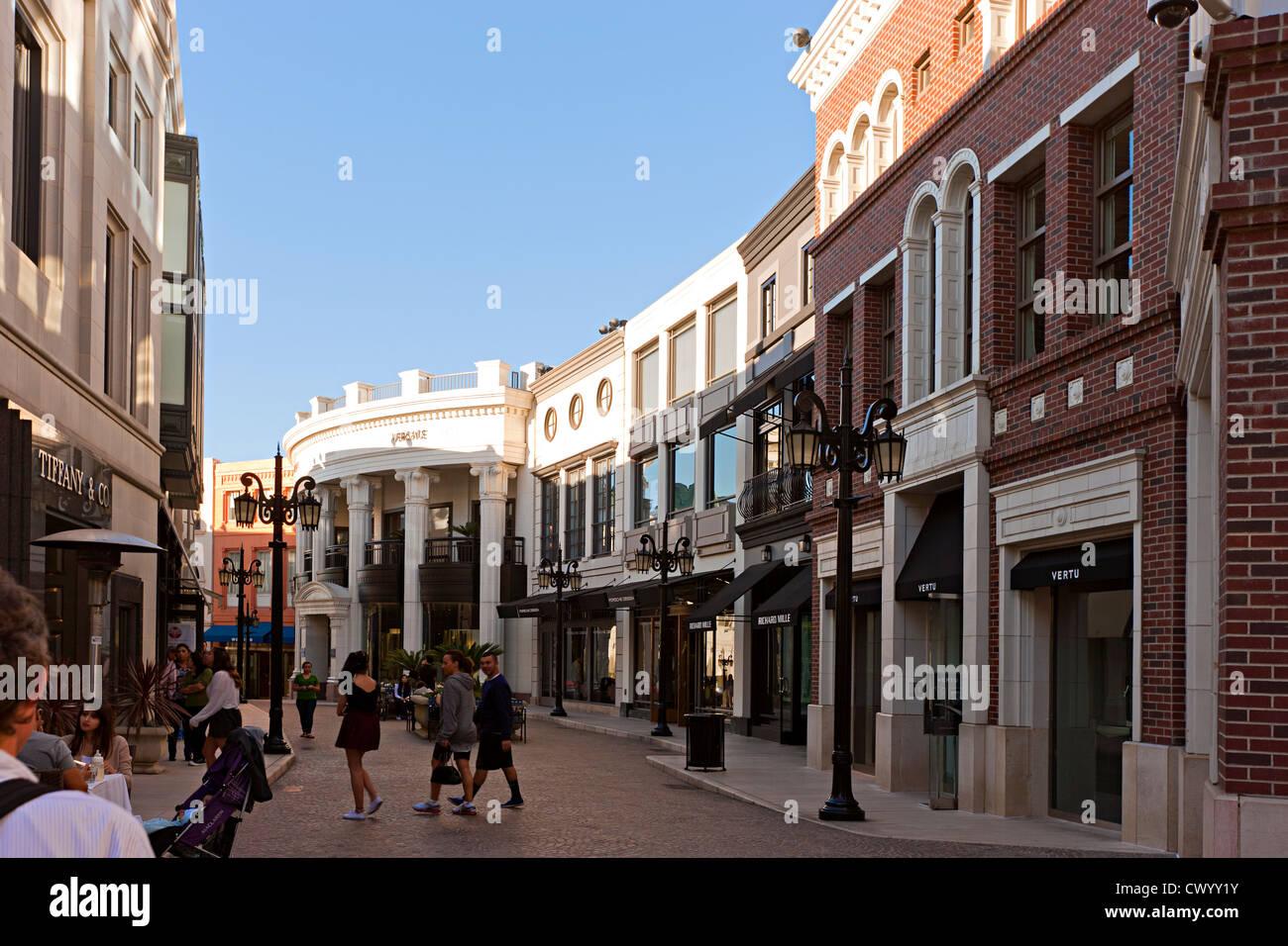 Geschäfte in Rodeo fahren Los Angeles, Kalifornien, USA Stockbild