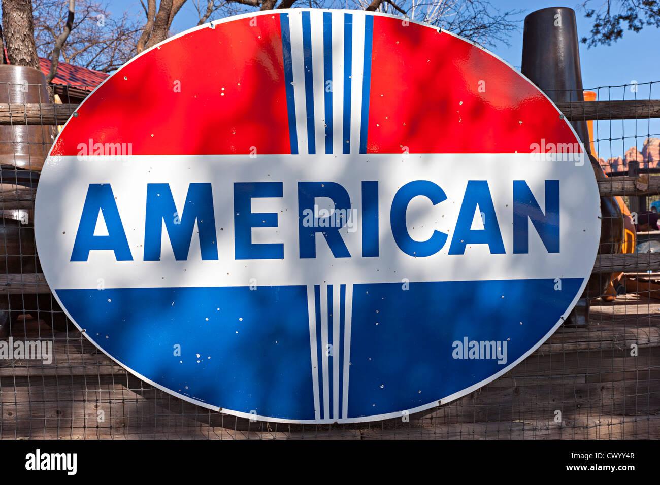 Alte amerikanische Zeichen Stockbild