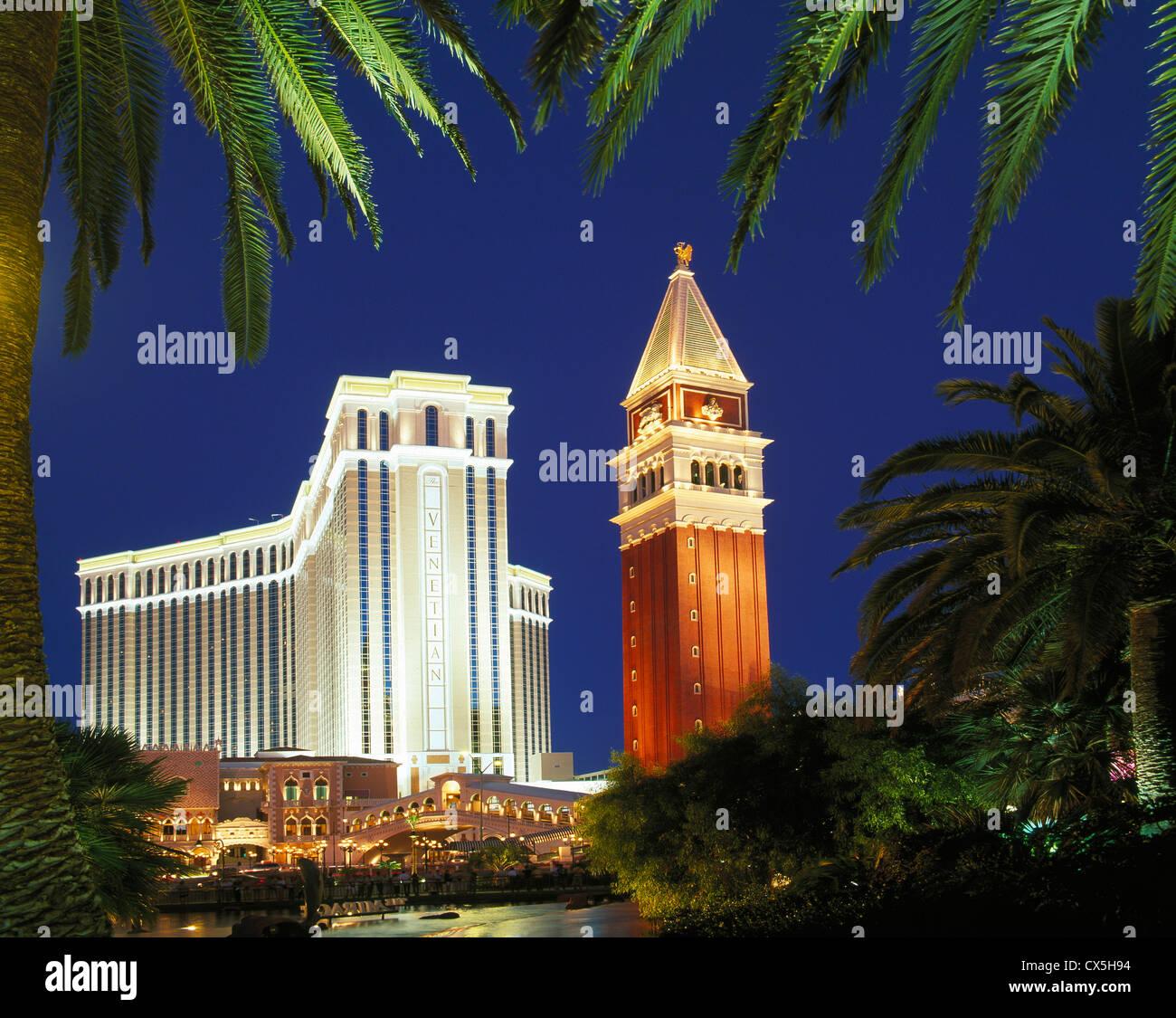 Das Venetian Hotel and Casino, Las Vegas, Nevada, USA Stockbild