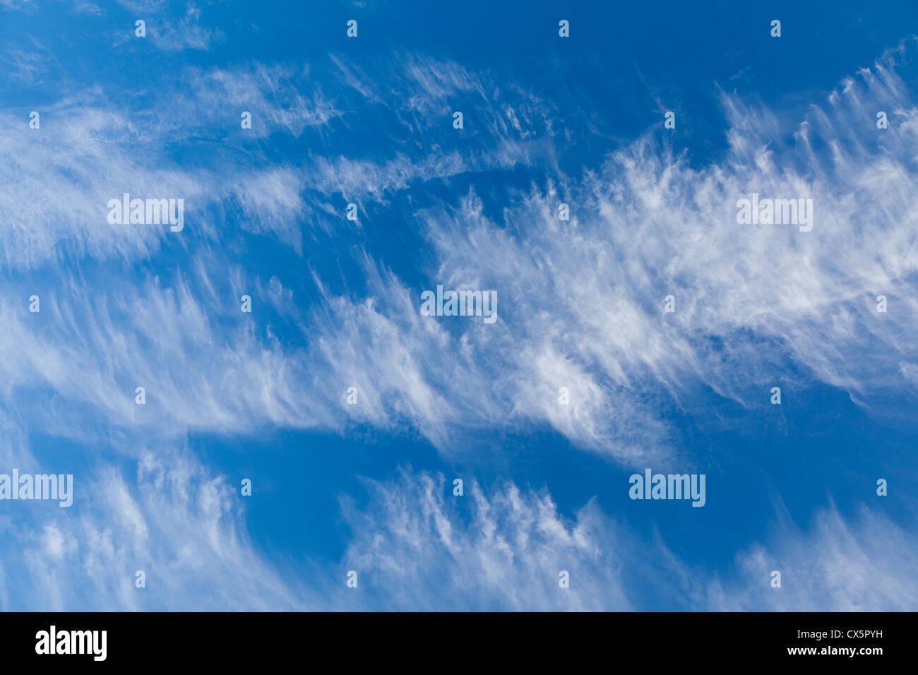 Abend Wolken über Exmoor Stockbild