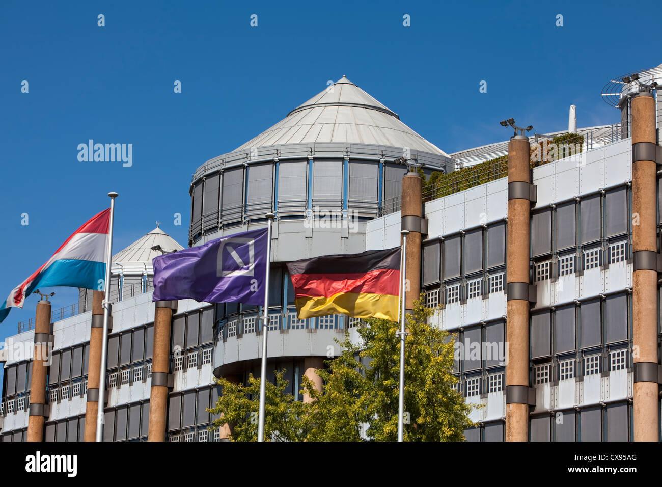 Deutsche Bank Gebäude, Viertel Kirchberg, Luxemburg-Stadt, Europa Stockbild