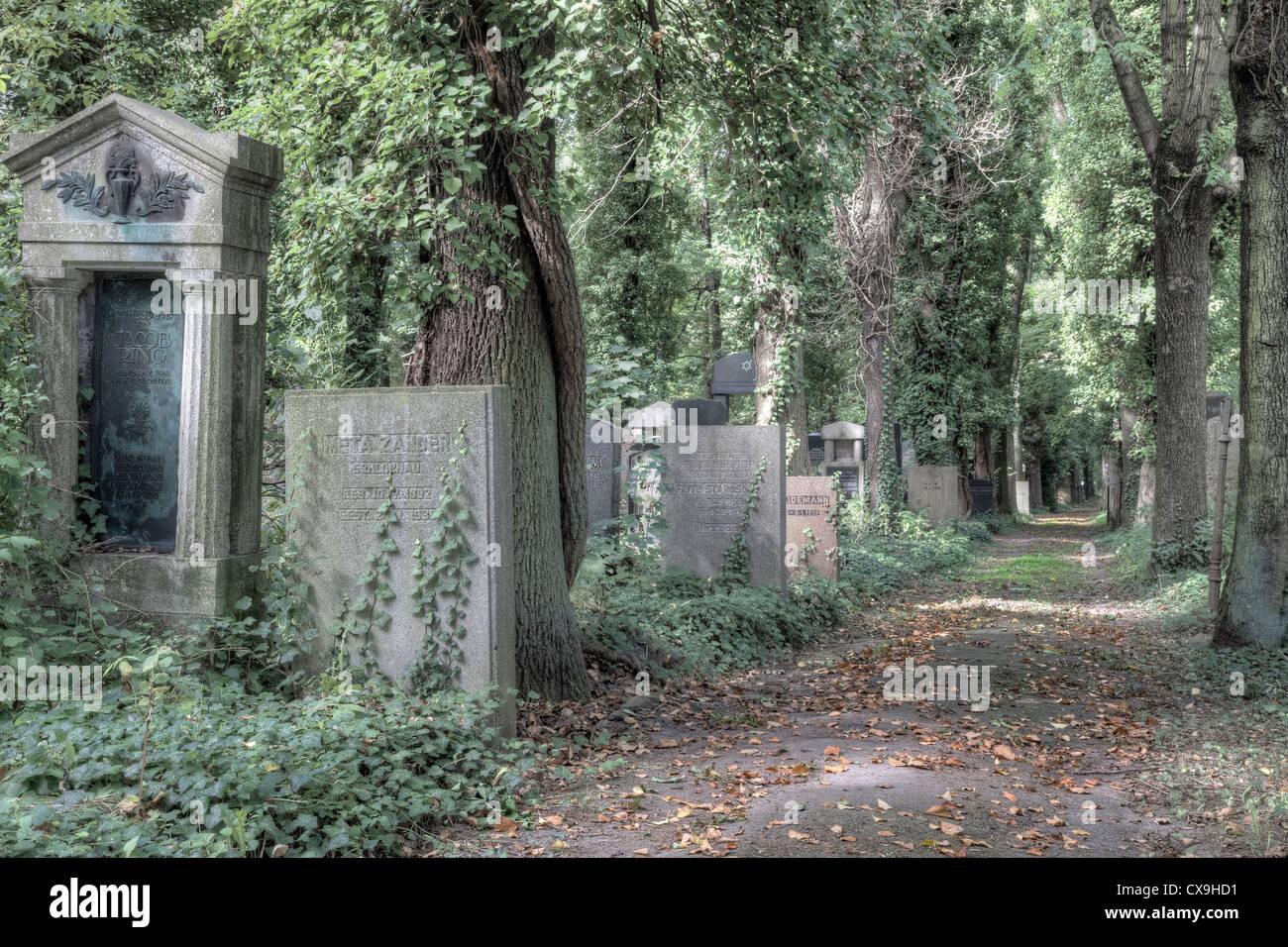 Jüdischer Friedhof Weißensee, Berlin, Deutschland Stockbild