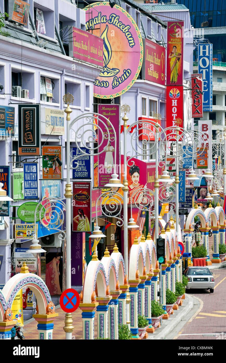 Jalan Tun Sambantham, Little India, Kuala Lumpur, Malaysia, Südostasien, Asien Stockbild