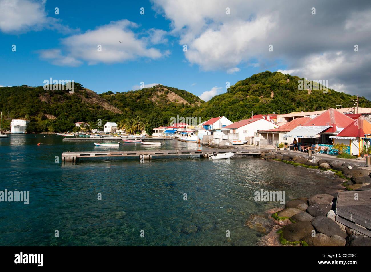 Le Bourg, Iles des Saintes, Terre de Haut, Guadeloupe, Französisch, Frankreich, West Indies, Karibik Mittelamerika Stockbild