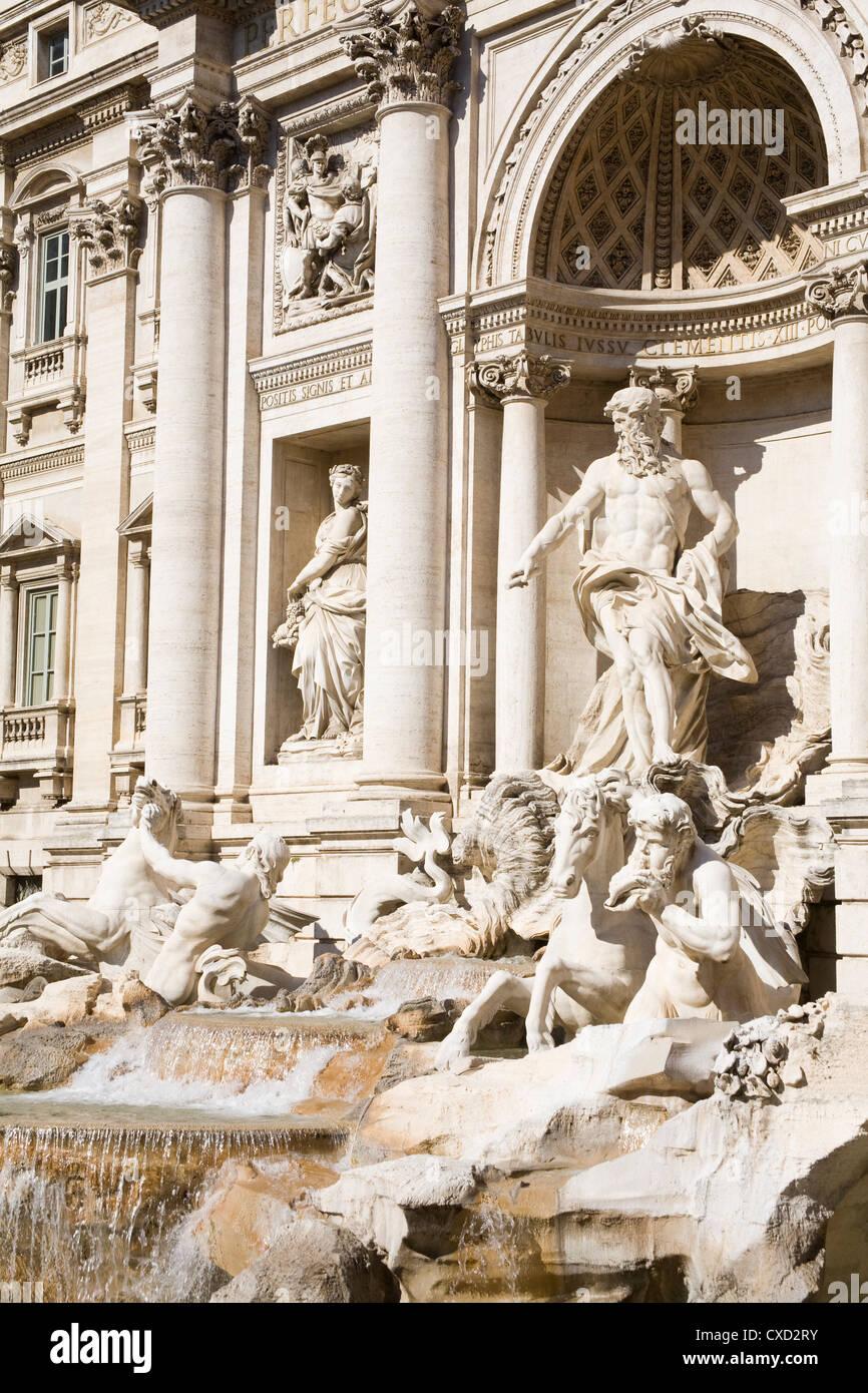 Fontana di Trevi, Rom, Latium, Italien, Europa Stockbild