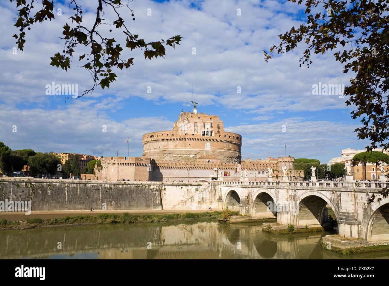 Engelsburg und Nationalmuseum, Rom, Latium, Italien, Europa Stockbild