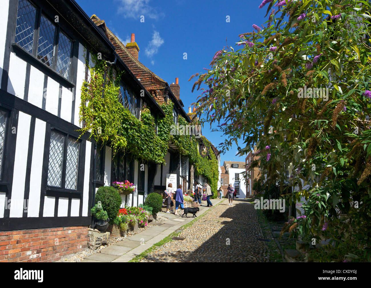 Die Mermaid Inn, Mermaid Street, Roggen, East Sussex, England, Vereinigtes Königreich, Europa Stockbild