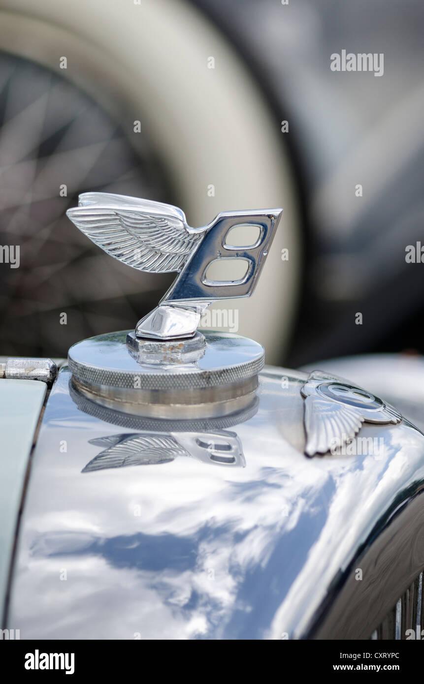 """Flying B"" Bentley hood Ornament, Festival von Oldtimern, ""Retro Classics Meets Barock"", Schloss Stockbild"