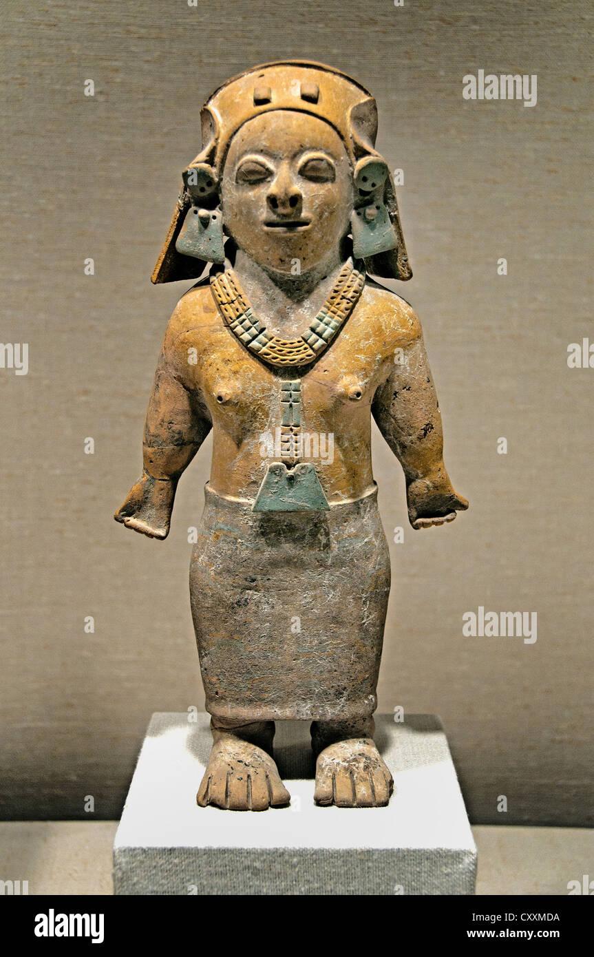 Frau weibliche stehende Abbildung 1. ? 5. Jahrhundert Ecuador Jama Coaque 33 cm ecuadorianische Stockbild