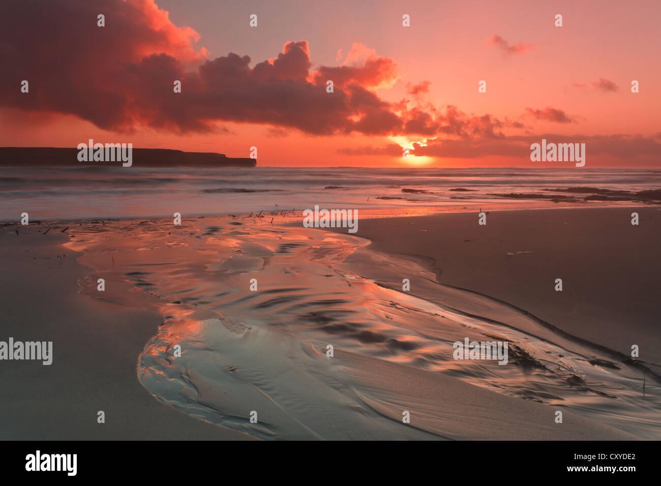 Orkney-Inseln, Skaill Strand Stockbild
