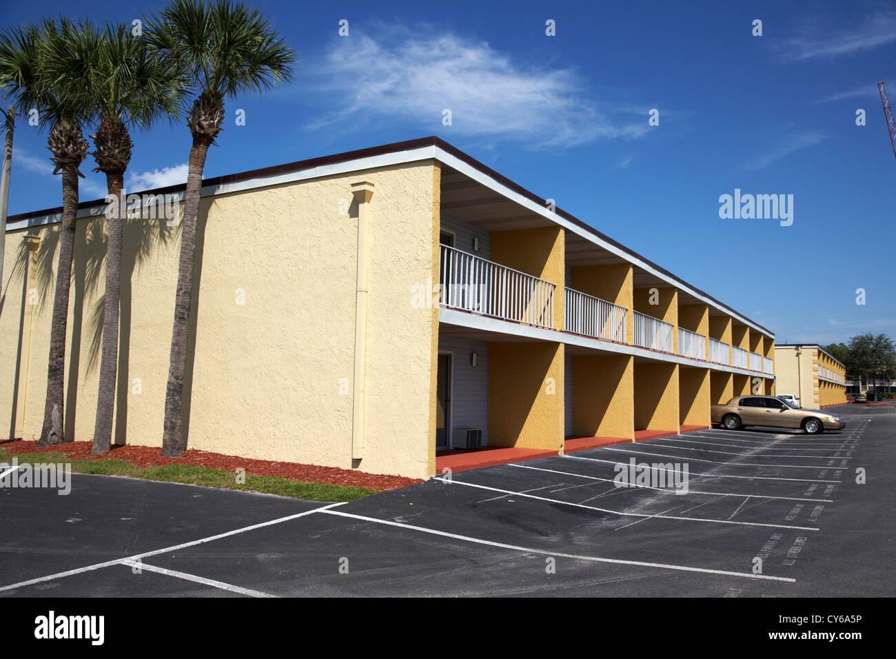 meist leer billig Budget Motel in Kissimmee Florida usa Stockbild