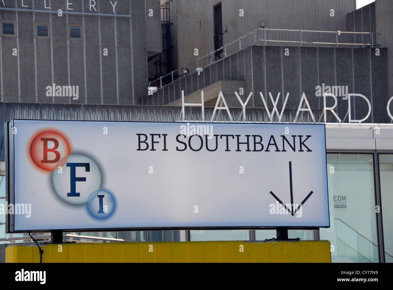 BFI British Film Institute für National Film Theatre anmelden South Bank London UK Stockbild