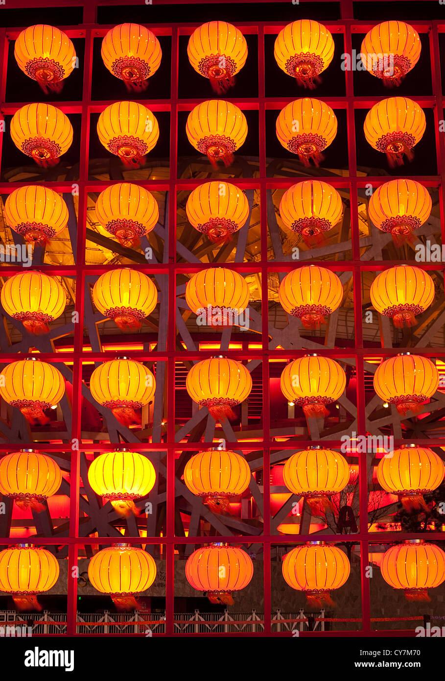 Gruppe-Laternen in Peking China Chinese New Year Saison Stockbild