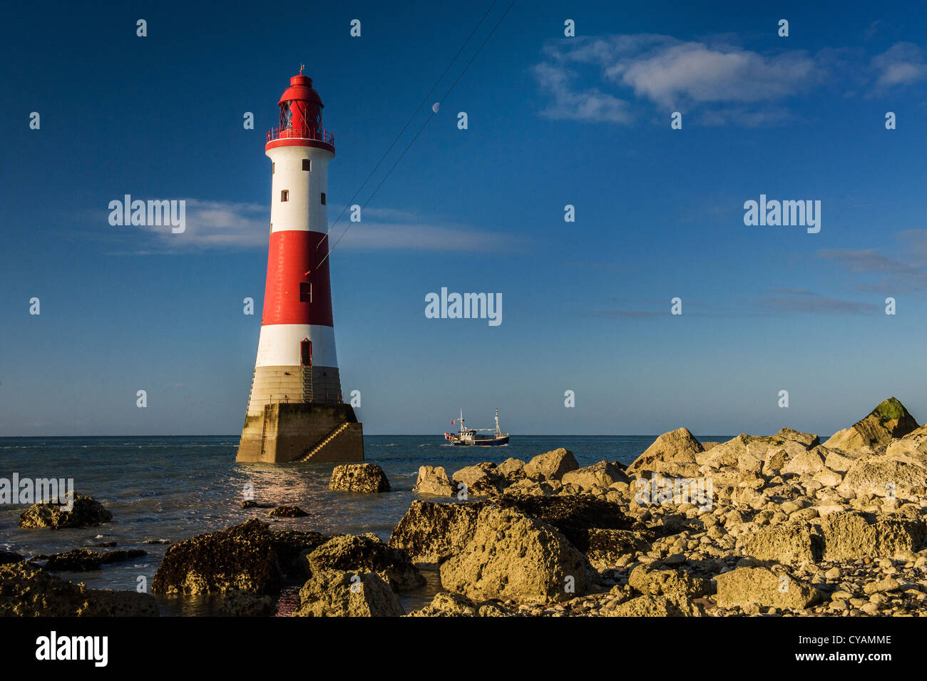 Beachy Head LIghthouse, East Sussex Stockbild