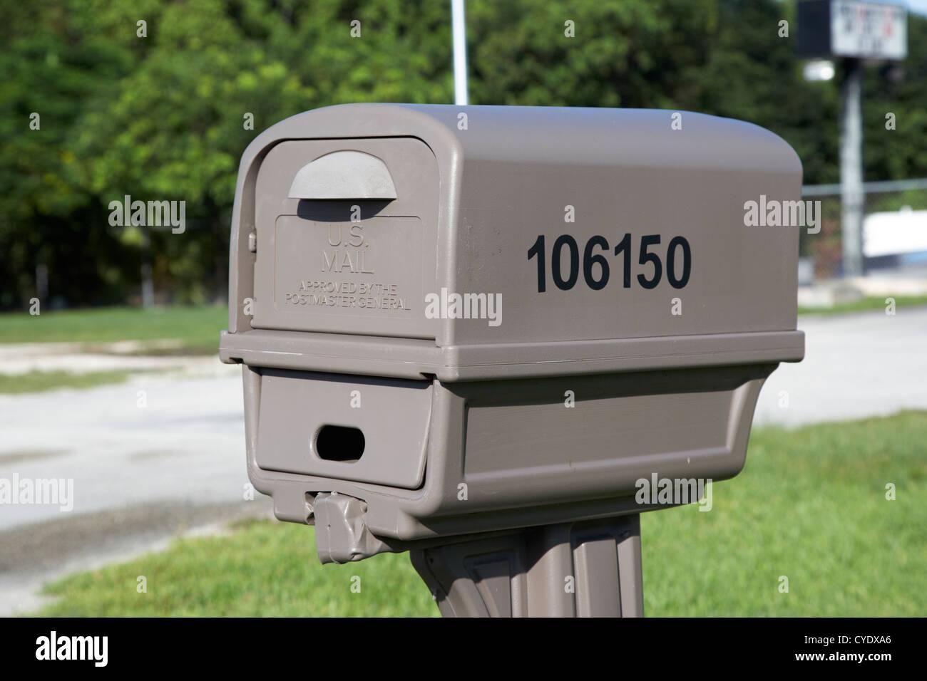 billiges Plastik U.S. mail doppelt Postfach usa Stockbild
