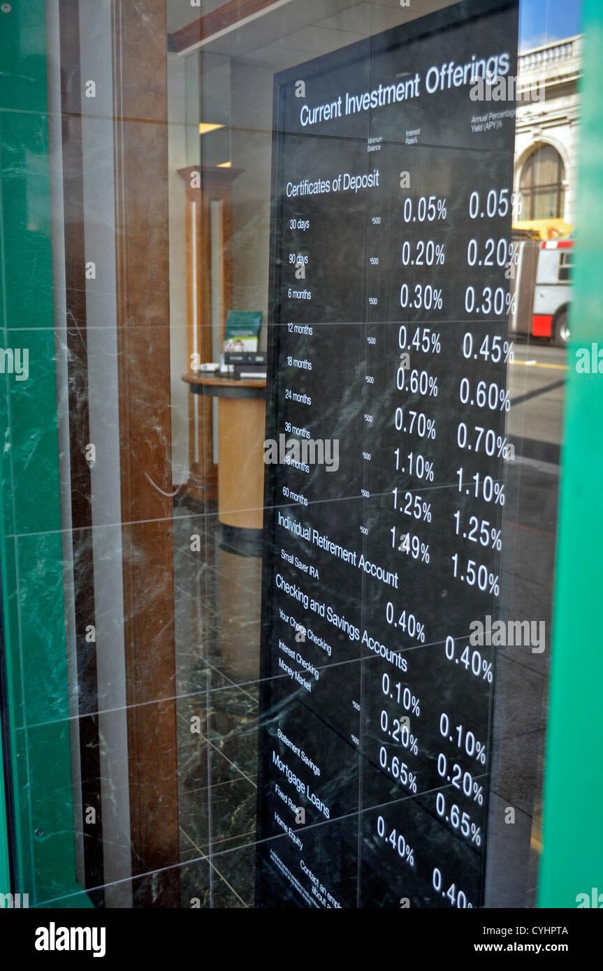 Zinsen-Zeichen Stockbild