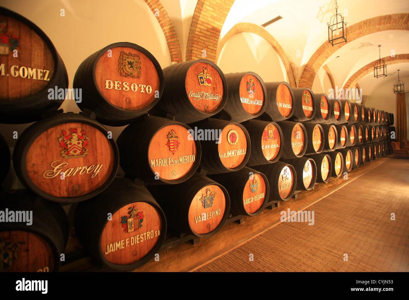 Spanien, Andalusien, Jerez De La Frontera, Kirsche Weingut. Stockbild