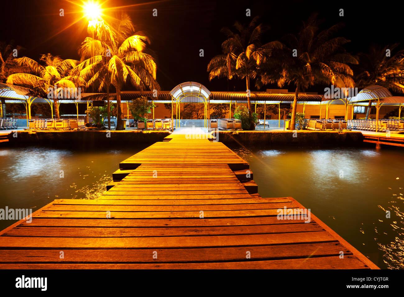 Nachtleben in der Hauptstadt Male, Malediven Stockbild