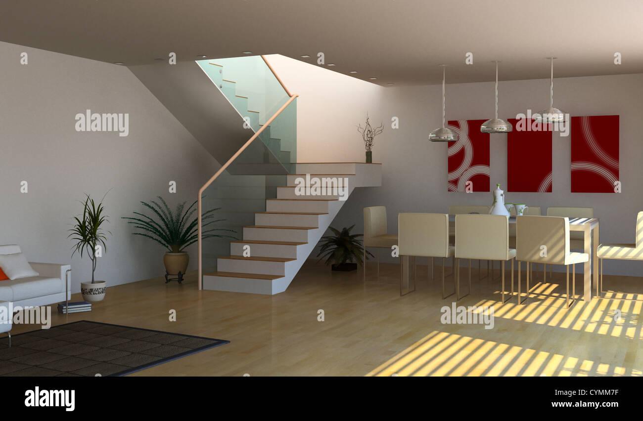 moderne Innenarchitektur (3D-Rendering Stockfoto, Bild: 51471379 - Alamy