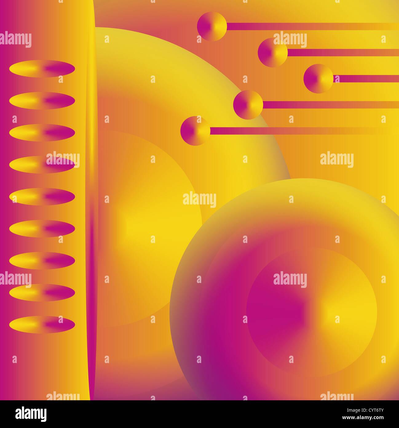 leuchtende Zukunft bar für Webvorlage oder Hintergrund Stockbild