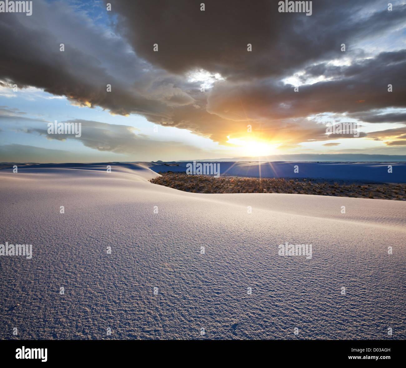 White Sands-Park in den USA Stockbild