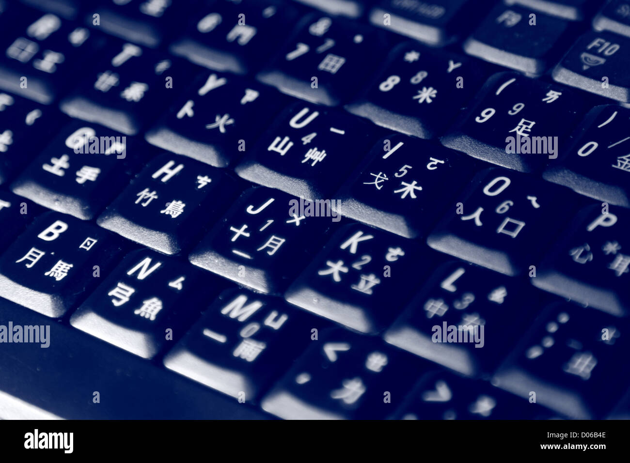 Tastaturen mit Beleuchtung Stockbild