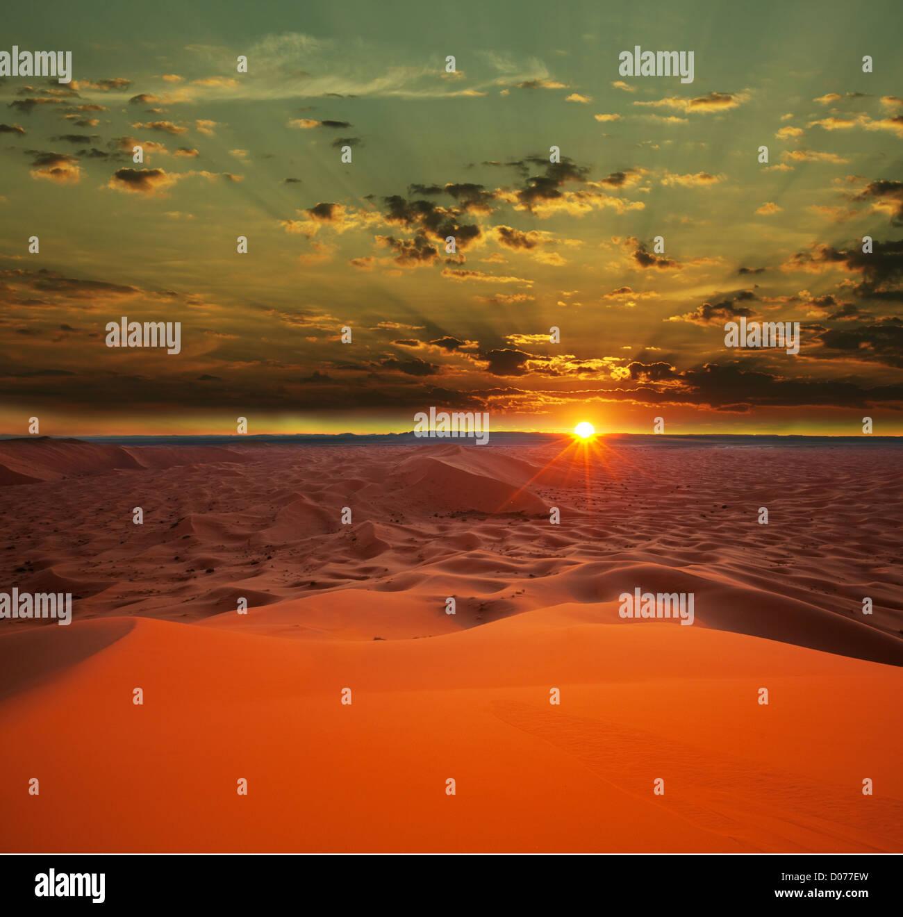 Wüste Sahara Stockbild