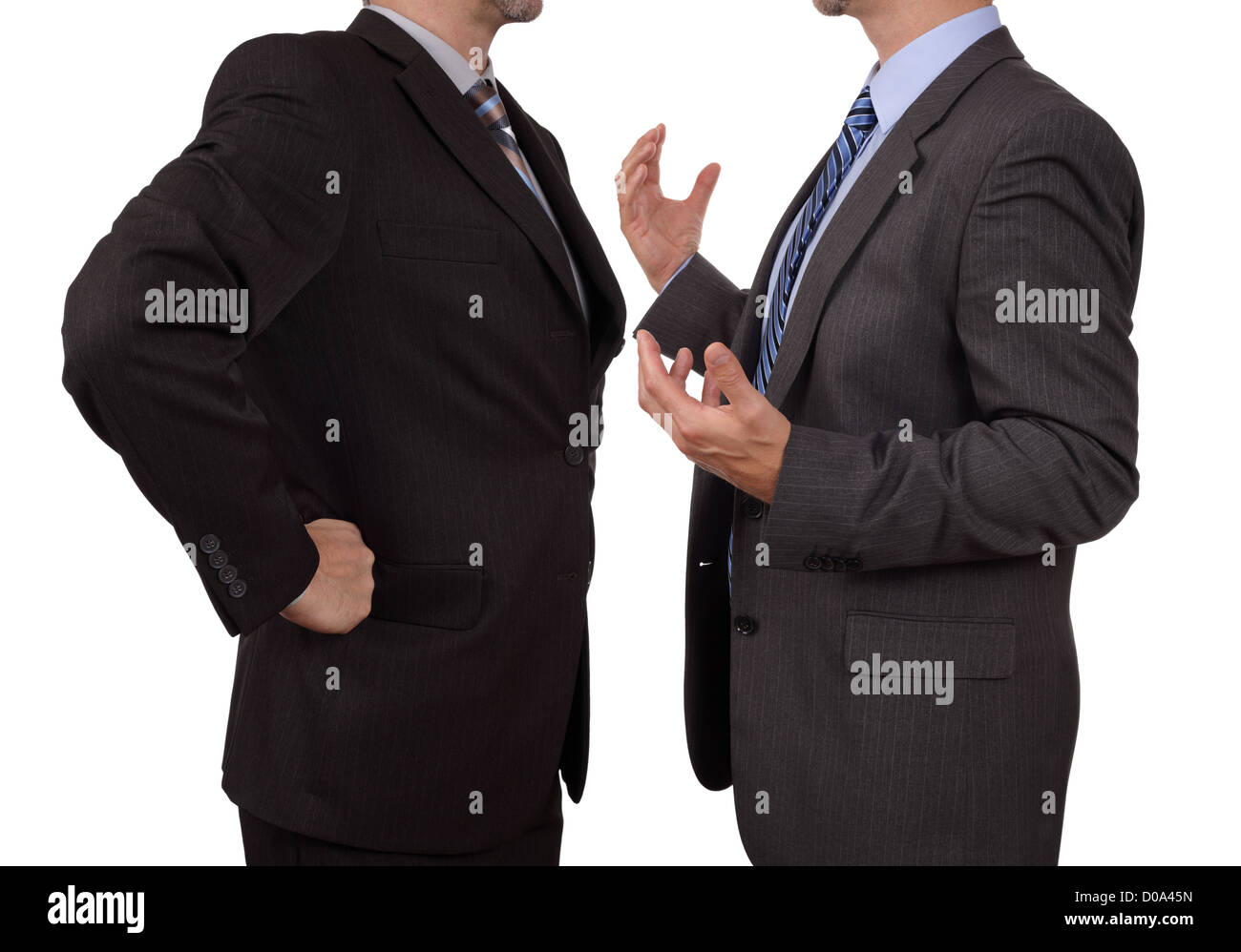 Konfrontation bei der Arbeit Stockbild