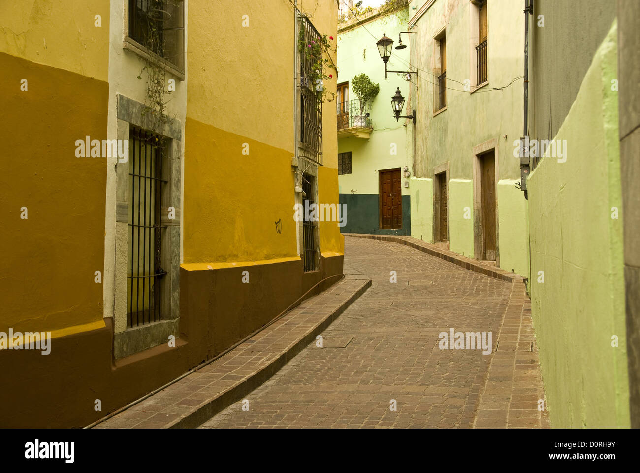 Kolonialen Mexiko Straßenbild Stockbild