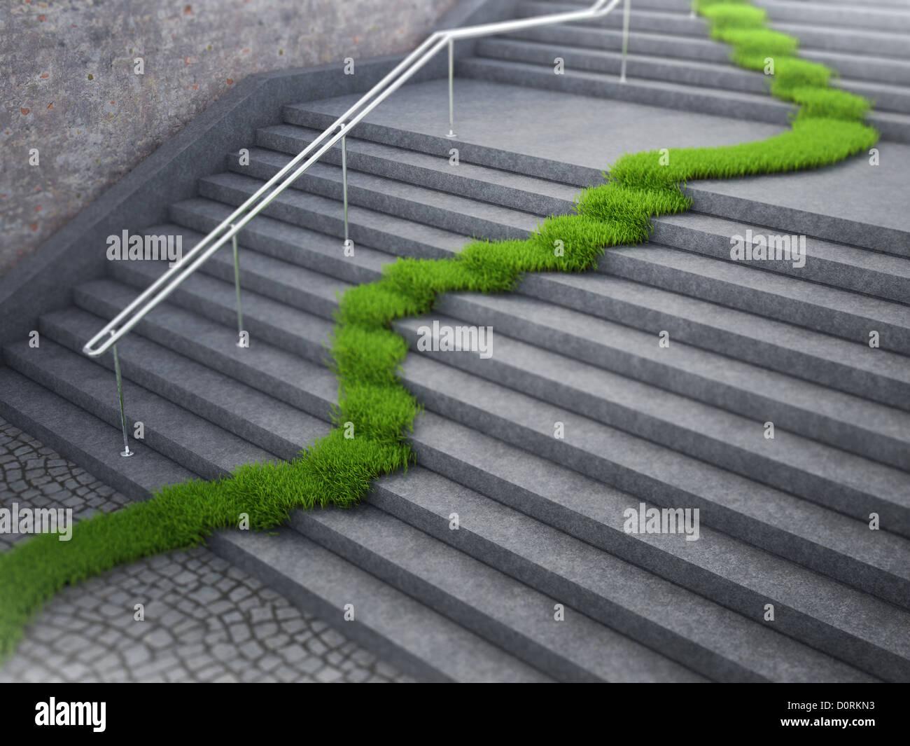 Urbane Ökologie-Konzept Stockbild