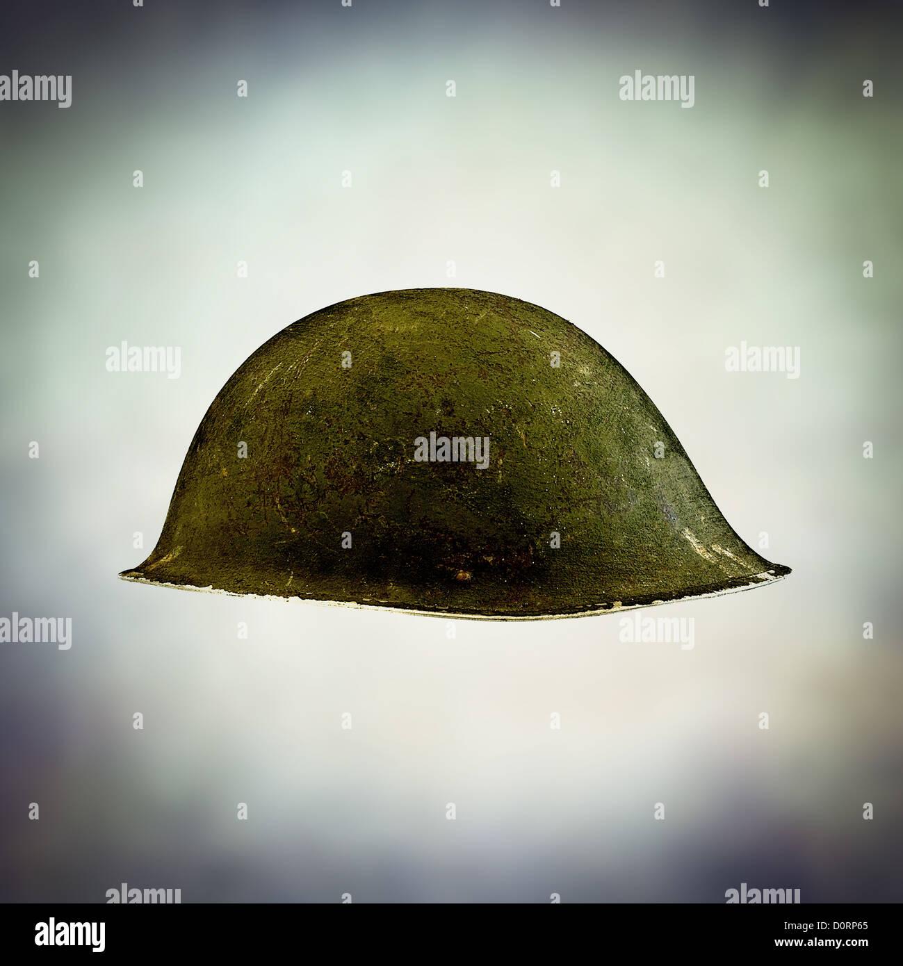 Krieg-Helm Stockbild